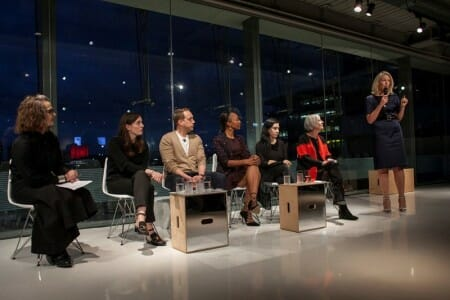 London College Fashion panel at Louis Vuitton Exhibition